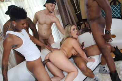 Carmen Valentina Does Her First Gangbang Exclusively For Dogfart's BlacksOnBlondes.com