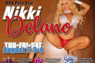 Nikki Delano Headlining at Three Albuquerque, New Mexico Gentlemen's Clubs