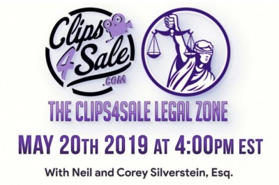 Clips4Sale Debuts New Legal Webinar Series with Neil & Attorney Corey D. Silverstein on Monday