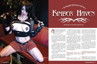 Kimber Haven Scores 8-Pages in Latest Issue of Transformation Mag