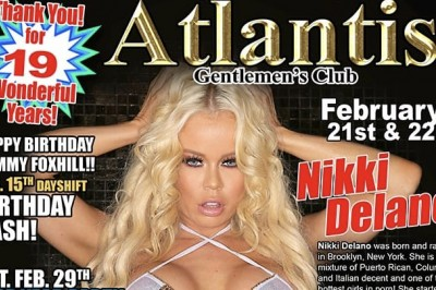 Nikki Delano Heads to Tampa, Florida to Headline at Atlantis Gentlemen's Club